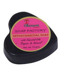 Vanam Herbals Detox Charcoal Herbal Soap with Essential Oil Organic & Natural - 75 gm