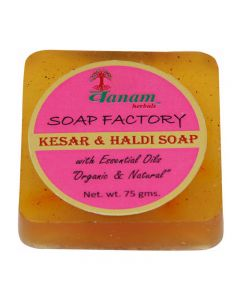 Vanam Herbals Kesar & Haldi Premium Soap with Essential Oil Organic & Natural - 75 gm