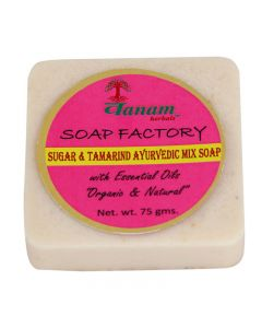 Vanam Herbals Sugar and Tamarind Herbal Soap with Essential Oil Organic & Natural - 75 gm
