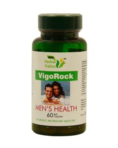 Indian Herbal Valley VigoRock Men's Health 60 Capsules (500 mg) - Ghee based soft capsules, boost stamina, maximum strength formula