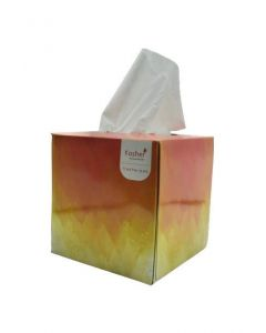 Kosher Dandelion Cube Facial Tissue Box - Pack of 6, 2 layered, 80 pulls in each box (Total 480 pulls)