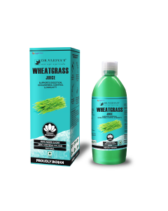 Dr. Vaidya's Wheatgrass Juice - Supports Digestion , Cholesterol Control & Immunity (1 LTR) - Vegetarian , Zero Added Sugar