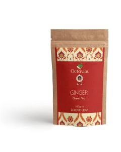 Whole Leaf Ginger Green Tea Pouch Pack