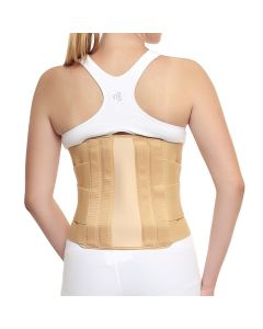 Witzion Contoured Lumbar Sacral Back Support Belt Beige - SMALL