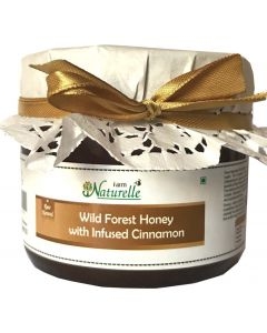 Farm Naturelle (Farm Natural Produce) Cinnamon Infused Natural Wild Forest Honey-400 Grams
