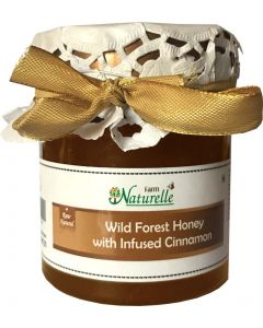 Farm Naturelle-Cinnamon infused 100% Pure Raw Natural Wild Forest Honey-250 Gms-Delicious and Healthy