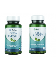 Zidaa Herbal Supplement for Detox - Pack of 2 (60 Tablets Each)