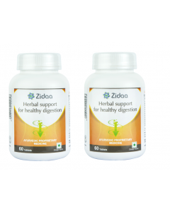 Zidaa Herbal Digestive Pills For Healthy Digestion - Pack of 2 (60 Tablets Each)