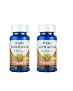Zidaa Garcinia Cambogia Natural Weight Loss Supplement - Pack of 2 (60 Capsules Each)