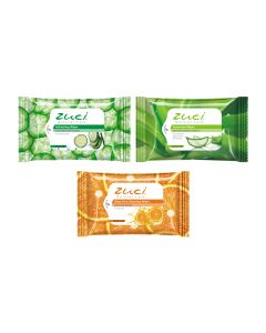 Zuci Wet Wipes Pack of 3 (Cucumber, Aloe Vera and Citrus Wipes) - 15 wipes in 1 pack